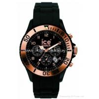 Buy cheap Ice-Watch Men's CH.RG.B.S.09 Chrono Collection Gold Bezel Black Strap Watch from wholesalers