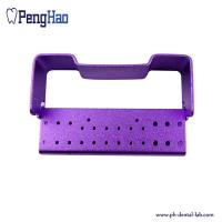 Buy cheap Hot sale denture bur holder/ 26-hole autoclavable box for opening with different colors from wholesalers