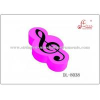 Buy cheap Rubber G Clef Music Erasers , Pink / White / Black Mechanical Pencil Erasers from wholesalers
