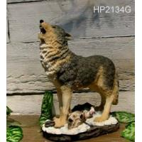 Buy cheap wolf, sculpture, statue, wildlife animal, polyresin from wholesalers