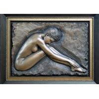 Buy cheap Professional Metal Relief Sculpture , Nude Woman Wall Relief Sculpture from wholesalers