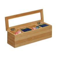 Buy cheap 4 sections bamboo wooden assorted tea box tea organizer from wholesalers