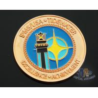 Buy cheap Iron Die Strucking Custom Challenge Coins Promotional Items Cut Edge from wholesalers