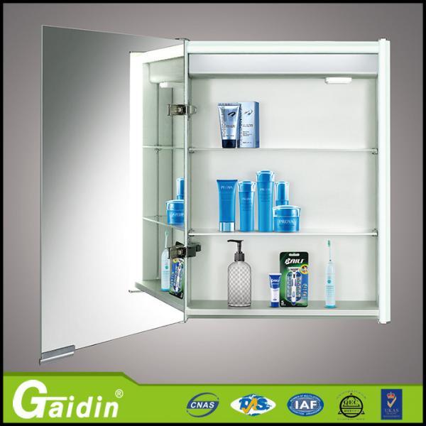 Glass mirror modern bathroom cabinet vanity with light for Modern bathroom mirrors for sale