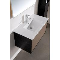 Buy cheap Modern 80 cm PVC mirrored Ceramic Countertop bathroom vanity base cabinet with Wash Basin from wholesalers