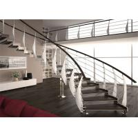Buy cheap Interior Building Curved Stairs Screws Installation Contemporary Staircase Design from wholesalers