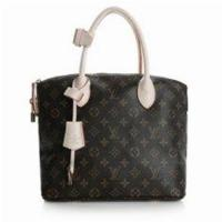 Buy cheap Golden Brass LV Monogram Handbags Canvas Lockit PM with Oxidizing Leather Handle for Women from wholesalers