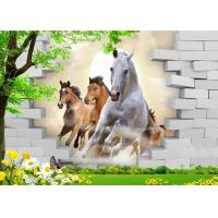 Buy cheap Fashionable And Noble 3D Bamboo Wall Panels Galloping Horse For TV Or Sofa Wall from wholesalers