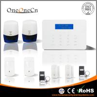 Buy cheap LCD Touch keypad GSM home security alarm system with checking door's status from wholesalers