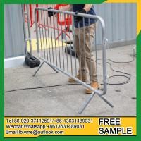 Buy cheap Gold Coast Heavy duty galvanized interlocking steel barriers crowd control fencing from wholesalers