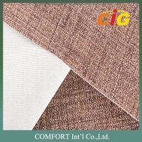 Buy cheap Fake linen polyester backing TC beige Sofa Upholstery Fabric width 145cm from wholesalers