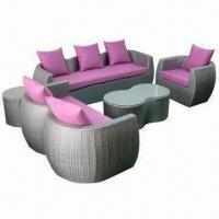 Buy cheap Patio Sofa Set, Wicker Green Products, Excellent Hand Weaving, UV resistant PE rattan from wholesalers
