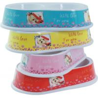 Buy cheap Pet Washable Dog Cat Double Round Bowl Lightweight Food Grade Melamine from wholesalers