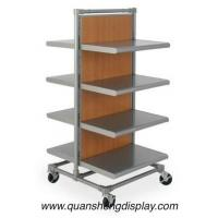 Buy cheap garment rack with wooden mdf shelving from wholesalers