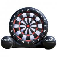 Buy cheap Outdoor Giant Inflatable Outdoor Games Velcro Dart Board With Balls Custom Logo from wholesalers