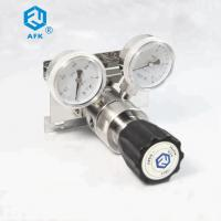 Buy cheap High Purity Stainless Steel Pressure Regulator Ones Stage Diaphragm Panel MountingWith Two Gauges from wholesalers
