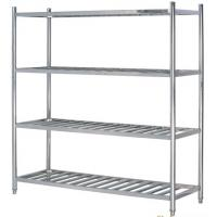 Buy cheap Stainless Steel 4-Layer Round Tube Shelves Kitchen Storage Rack 1200*500mm 1500*500mm from wholesalers