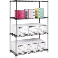 Buy cheap 18 D X 42 W Office Supplies Storage Solution Epoxy Wire Shelving Unit from wholesalers
