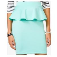 Buy cheap Sexy Peplum Pencil Mini Women Dresses Skirts For Office Lady , Mint product