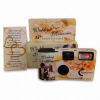 Buy cheap 35mm Disposable Wedding Cameras with Film and Battery Inside from wholesalers
