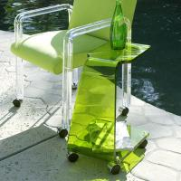 Buy cheap Modern Acrylic Furniture ,Clear Green End Table With Casters product