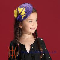 Buy cheap Beautiful Cute Purple Felt Kids Fascinators Hats , Headpieces for Party from wholesalers