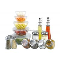 Buy cheap 16 pieces mixing Large Glass Salad Bowls with lid 160ml 240ml 480ml 0.6l 1.2l product