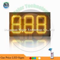 Buy cheap Amber Color 8.88  Outdoor High Brightness Remote Control  Double Side LED Digit Price Sign Board from wholesalers