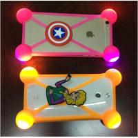 Buy cheap Hot Sale Universal Silicone Phone Case 3D Cartoon LED Flash Light Phone Cover For Iphone Accessories from wholesalers