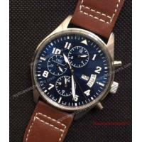 Buy cheap Low Price IWC Big Pilot Day Date Watch SS Blue Automatic 43mm from wholesalers