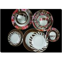 Eco-friendly Round Dinnerware Sets , Durable Porcelain  Plates Dishes Dinnerware