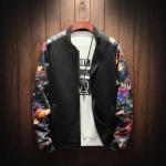 Buy cheap Custom baseball jacket wholesale zipper-up jacket sublimation floral winter men jackets from wholesalers