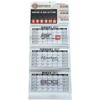 Buy cheap 3 Fold Flexor Printing Art Paper Wall Calendars 128gram For New Year Gift from wholesalers