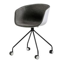 Buy cheap Simple Classic Plastic Rolling Desk Chair Multi Colors Available from wholesalers
