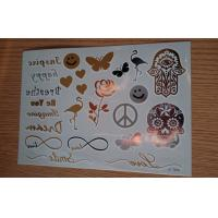 Buy cheap Makeup Bracelets Metallic Temporary Tattoo passed En71 and REACH product