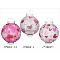 Buy cheap 20cm Paper Wedding Decorations , Pink And Purple Paper Lanterns For Indoor Party from wholesalers