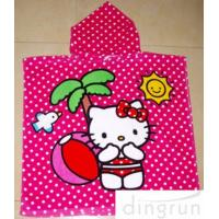 Buy cheap Full Reactive Printing Hooded Poncho Towels Azo Free Personalized from wholesalers