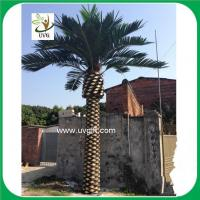 Buy cheap UVG PTR030 large artificial canary date palm tree for outside garden decoration from wholesalers