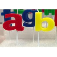 Dripless Alphabet Letter Candles With White Plastic Holder For Birthday Party