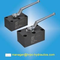 Buy cheap HRPC Brand Hydraulic Oil Manual Manifold Mounted Ball Valve from wholesalers
