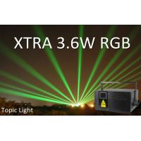 Buy cheap DMX Laser 3D Animation Music active XTRA 3.6W Laser Lighting from wholesalers