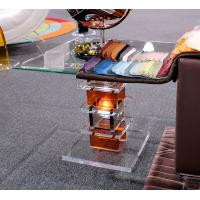 Buy cheap Modern Acrylic Furniture Clear End Table With Electric Light product