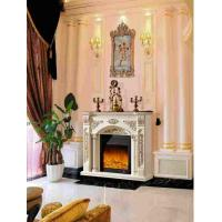 Buy cheap Customized Energy Efficient Antique Decorative Fireplace wiht LED Light from wholesalers