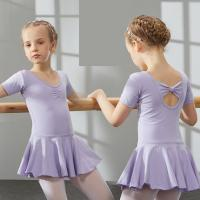 Buy cheap Children's cotton and spandex dance clothing Summer baby girl uniforms short sleeve ballet dance dress from wholesalers