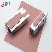Quality Pink Heat Dissipation Fins Thermal Gap Filler For LED - lit Lamps -50 - 200℃ Continuos Use Temp 1.0 W/m-K for sale