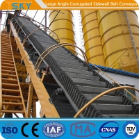 Buy cheap 160mm Sidewall 3.15m/s B1200 High Angle Belt Conveyor from wholesalers