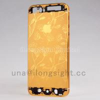 Buy cheap Gold back cover with decorative pattern replacement for iphone 5s from wholesalers