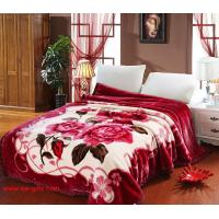 Buy cheap Blanket with flowers Grade A B Thicken Laschel Blankets Home Textile pink&beige blankets from wholesalers