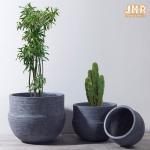 Buy cheap Outdoor Pot Planters Clay Flower Pots Gray Color Plant Pots Fibreglass Garden Pots from wholesalers