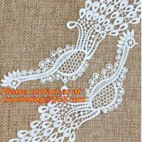 Buy cheap White Fabric Venice Floral Flower Motif Lace Trim Sew Applique Craft DIY from wholesalers